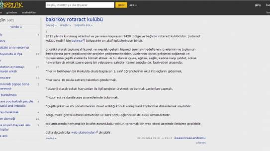 22.03.2014 / Bakırköy Rotaract Kulübü Ekşi Sözlük Entry'leri