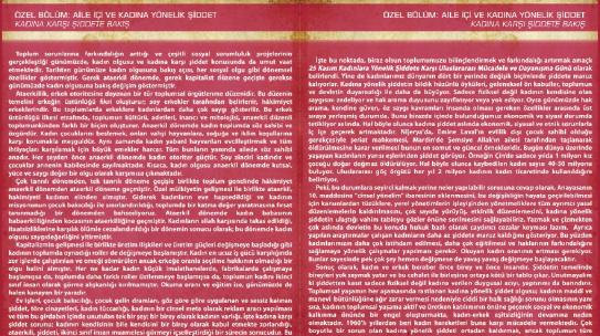 01.03.2014 / Rotapigeon Kadına Karşı Şiddete Hayır Özel Sayısı